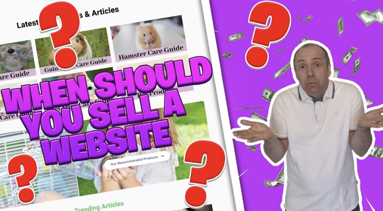 When to sell a website
