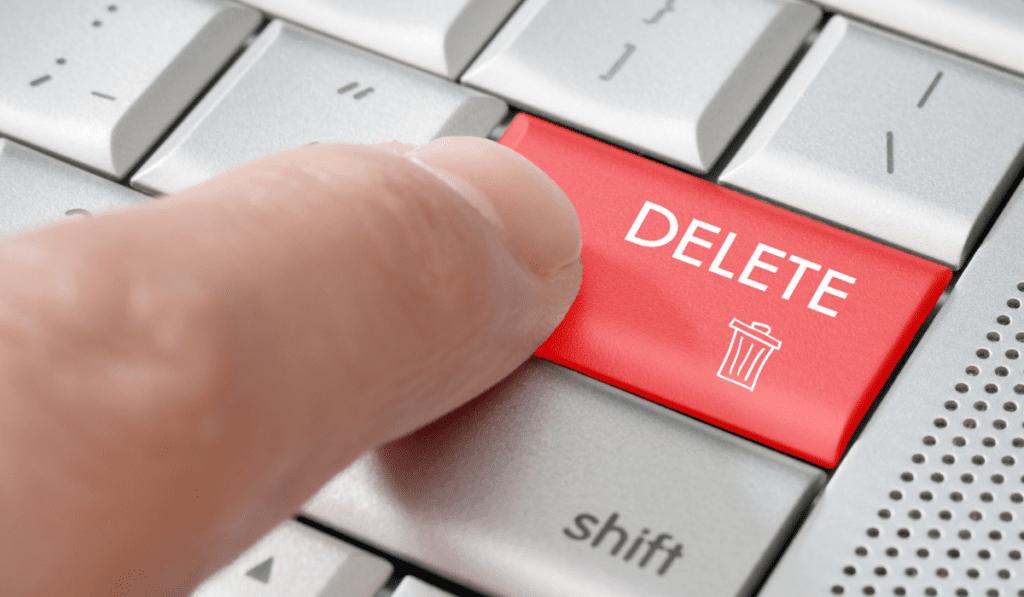 delete non users