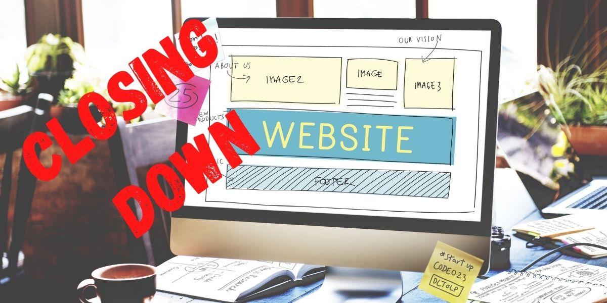 closing down a website