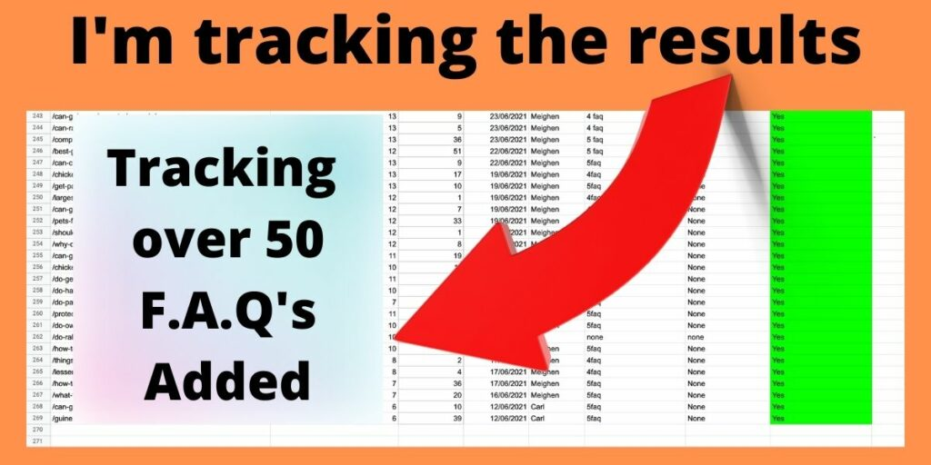 tracking the results from f.a.q. schema