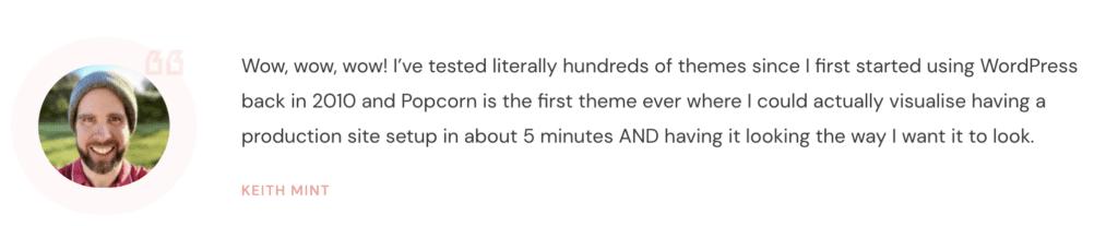 popcorntheme testimonial