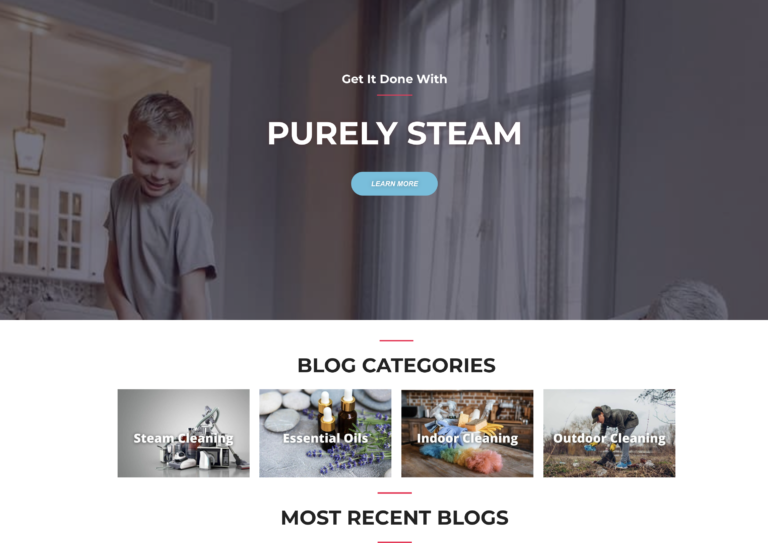 NOW SOLD ** Steam Cleaning Website