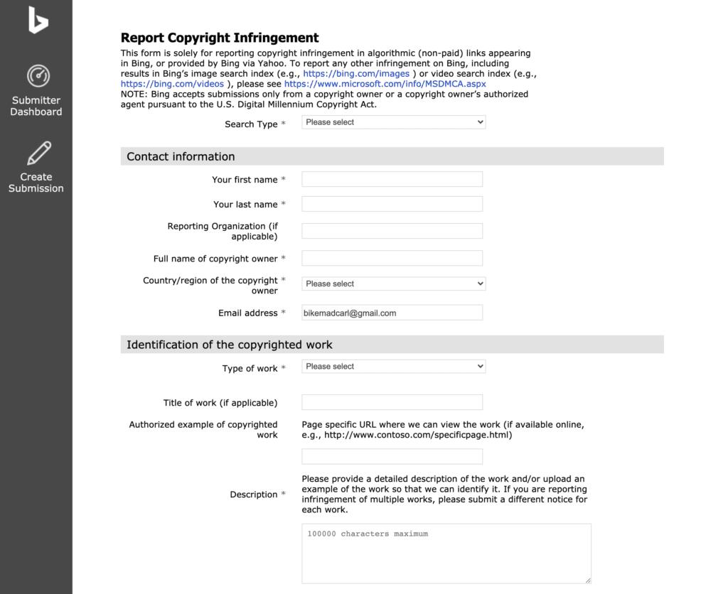 report copyright