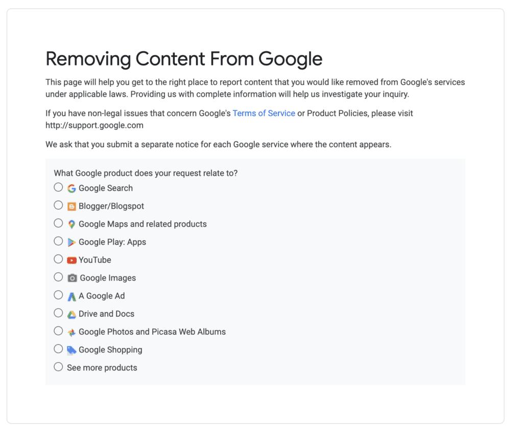 report stolen content google