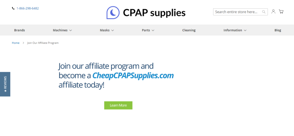 CPAP Supplies AFFILIATE PROGRAM