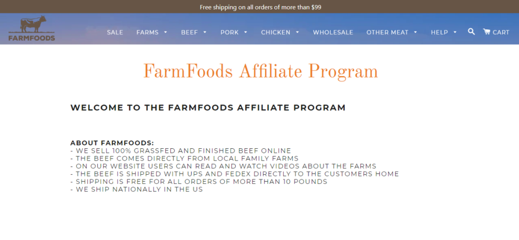 FarmFoods Affiliate Program