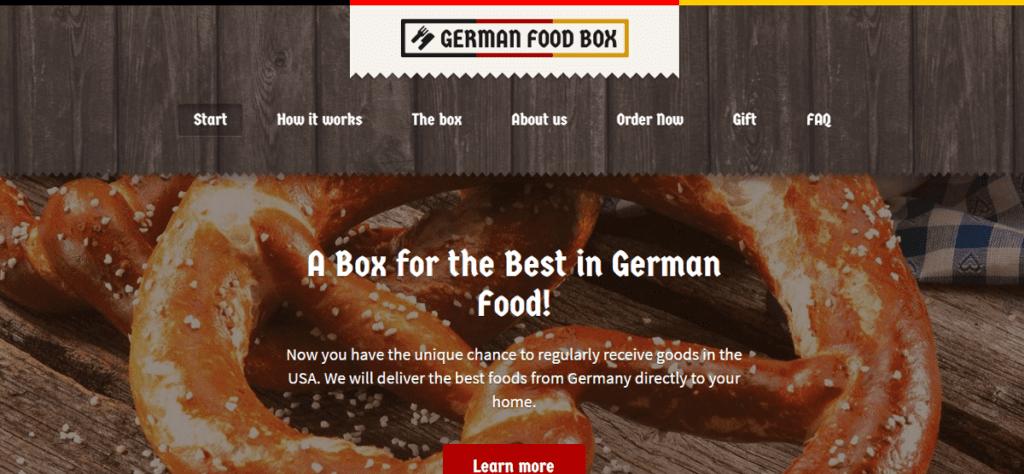 German Food Box affiliate program