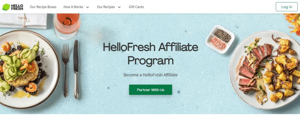 Hello Fresh Affiliate Program