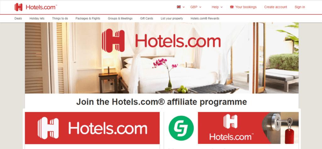 Hotels.com affiliate program