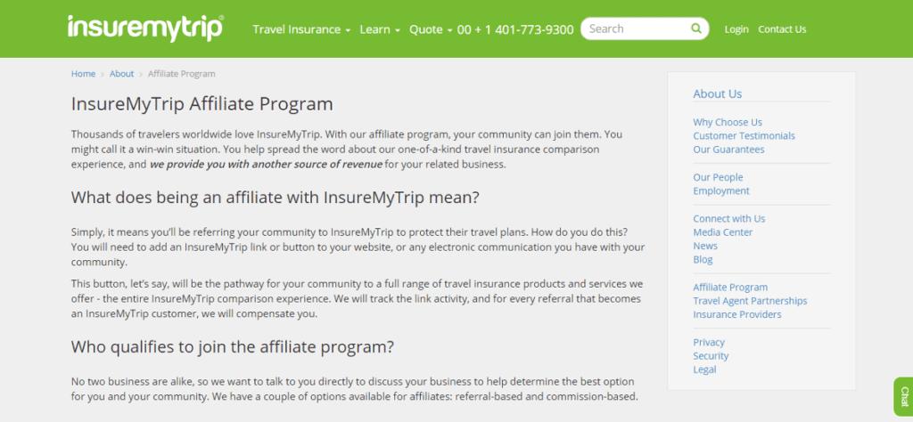 Insure My Trip affiliate program