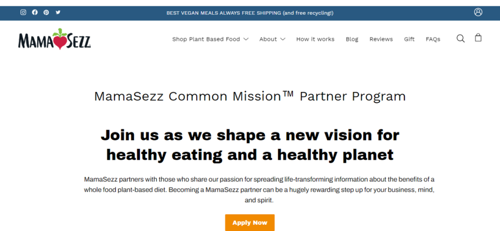 Mama Sezz Common Mission Partner Program
