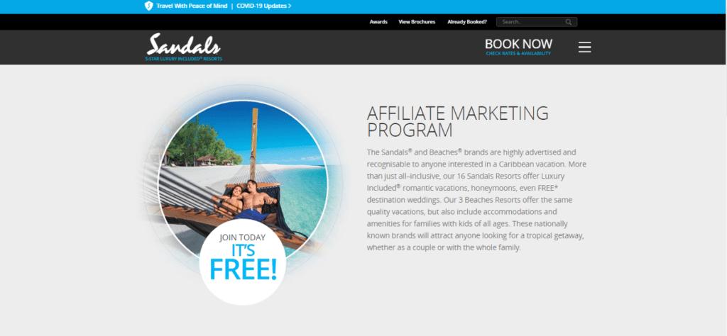 Sandals Resorts affiliate program