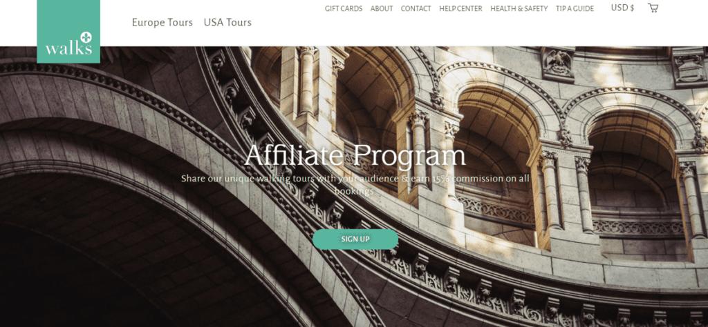 Take Walks affiliate program