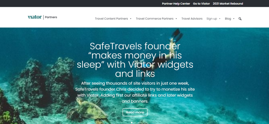 Viator Partners affiliate program