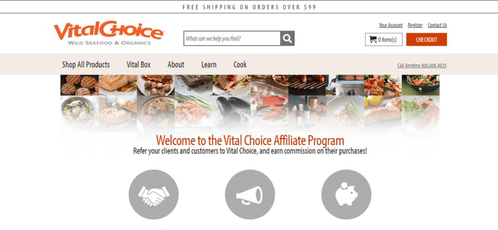 Vital Choice Affiliate Program